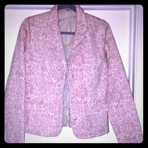 NWOT💋Old Navy Pink and White floral blazer size L